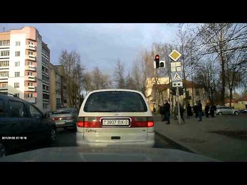 Нарушение правил проезда перекрёстка