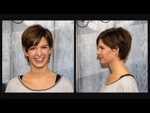 Long to Short Pixie Haircut Women Extreme Hair Makeover