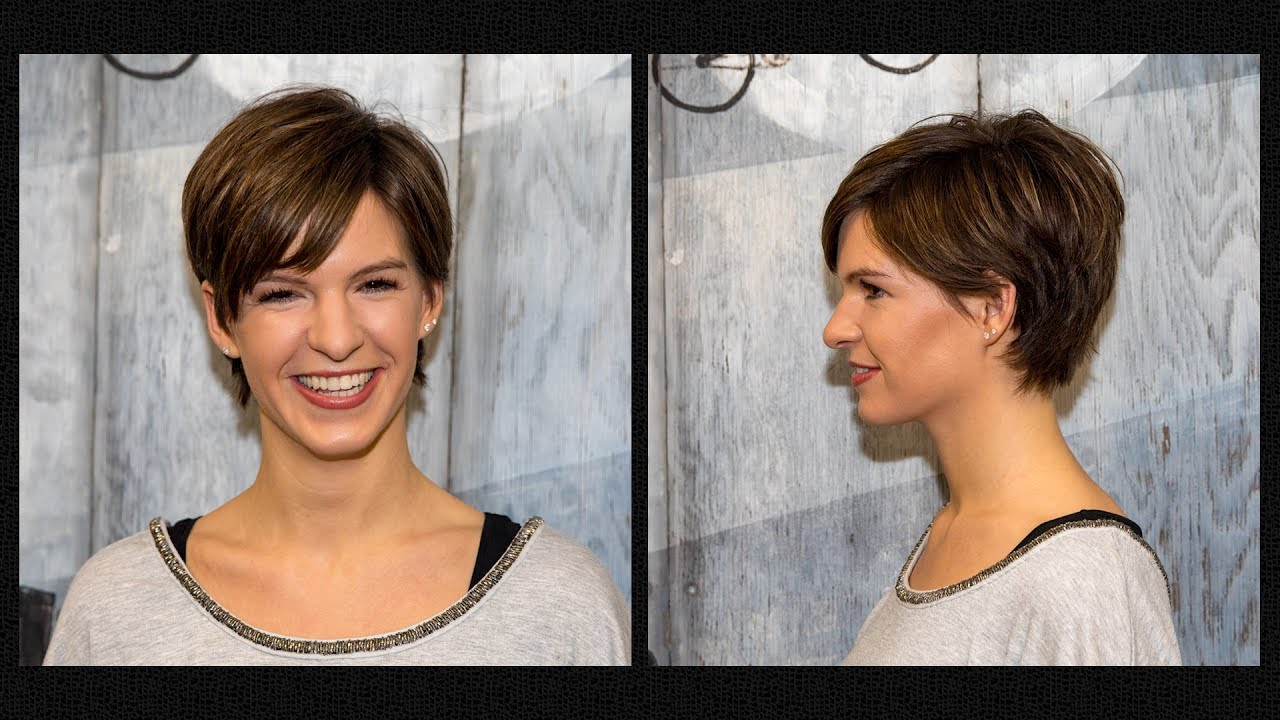 Long To Short Pixie Haircut Women