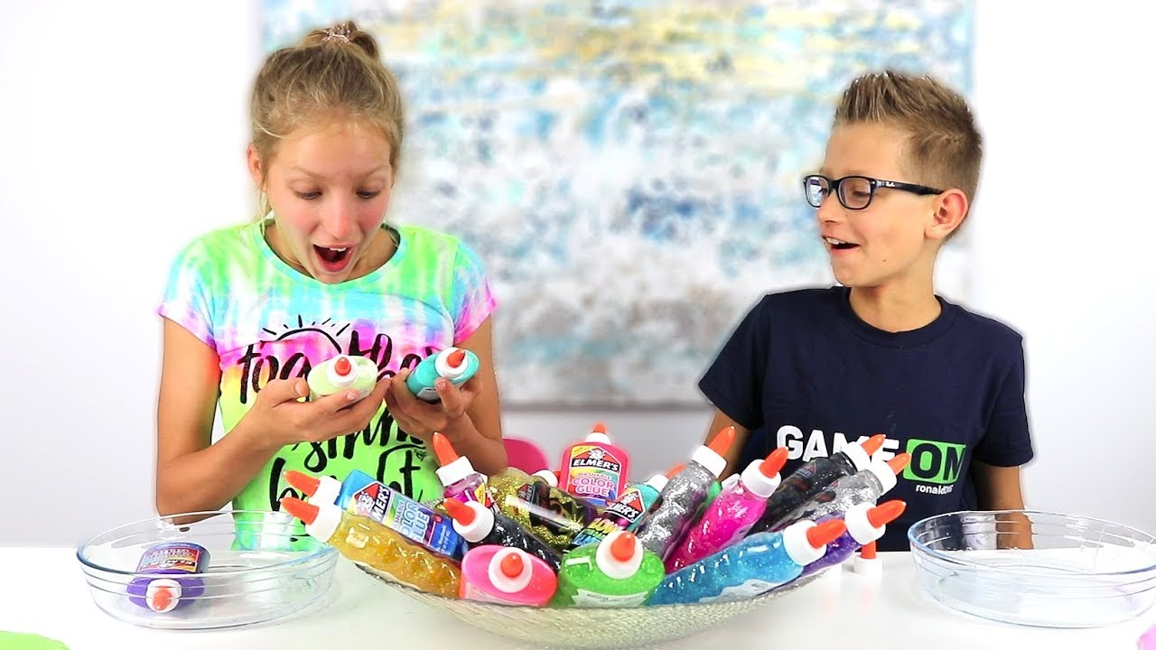 3 Colors of Glue Slime Challenge!!! New Colors!!!