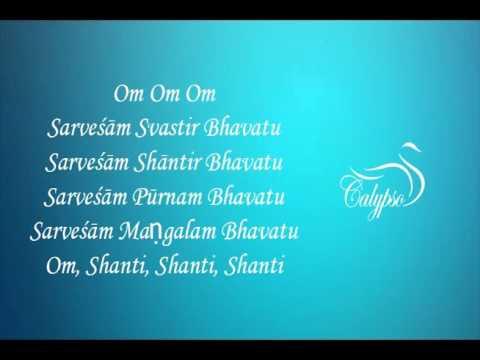 Shanti mantra om sarvesham swastir bhavatu song download.