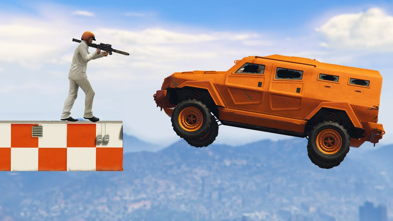 WORLD\'S STRONGEST CAR vs. ROCKETS! (GTA 5 Funny Moments) - YouTube