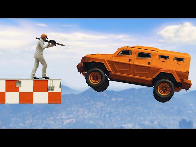 WORLD'S STRONGEST CAR vs. ROCKETS! (GTA 5 Funny Moments)
