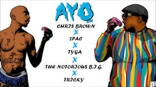 Скачать Chris Brown Tyga Ayo Ft 2Pac The Notorious B I G Remix