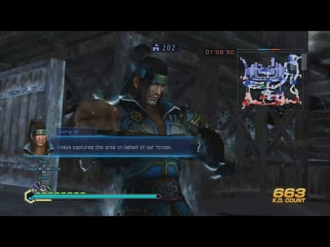Dynasty Warriors 8 Empires - Deng Ai's Revolving Crossbow Weapon Gameplay