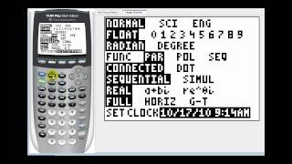 Graphing Parametric Equations on the TI84