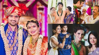 Tollywood actor samrat reddy marriage photos with family members and friends