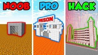 Minecraft NOOB vs. PRO vs. HACKER: SAFEST PRISON in Minecraft! (Animation)