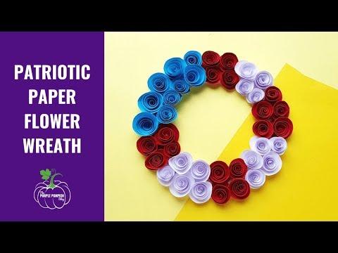 Paper Flower Wreath Craft Tutorial Slideshow
