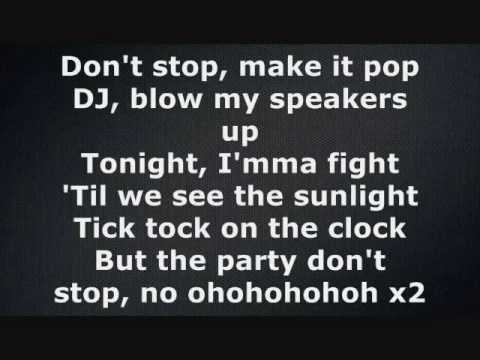 Ke$ha - Tik Tok (Lyrics on screen)