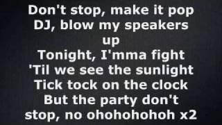 Ke$ha - Tik Tok (Lyrics on screen)