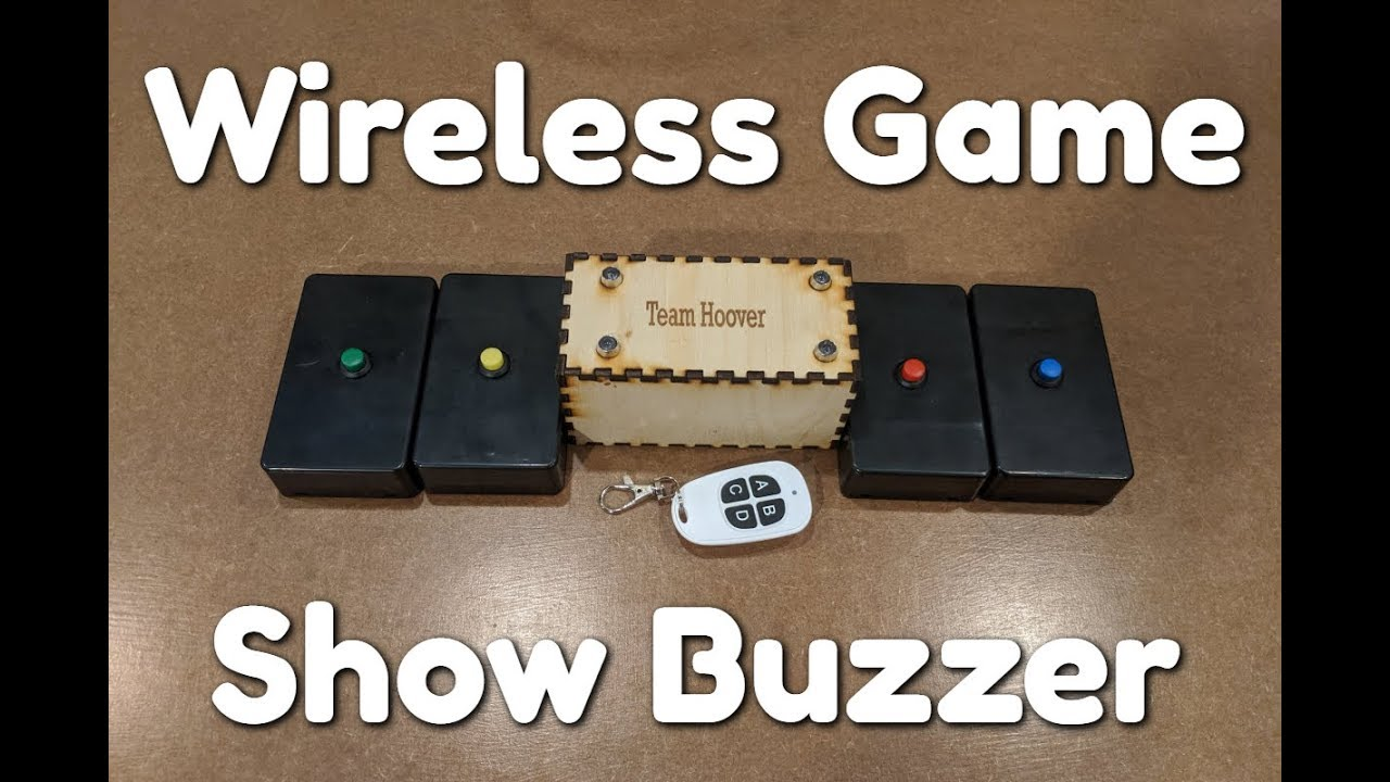 Wireless Arduino Game Show Buzzer (With Code)
