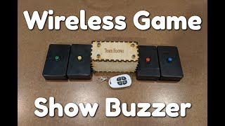 Wireless Arduino Game Show Buzzer (With Code)