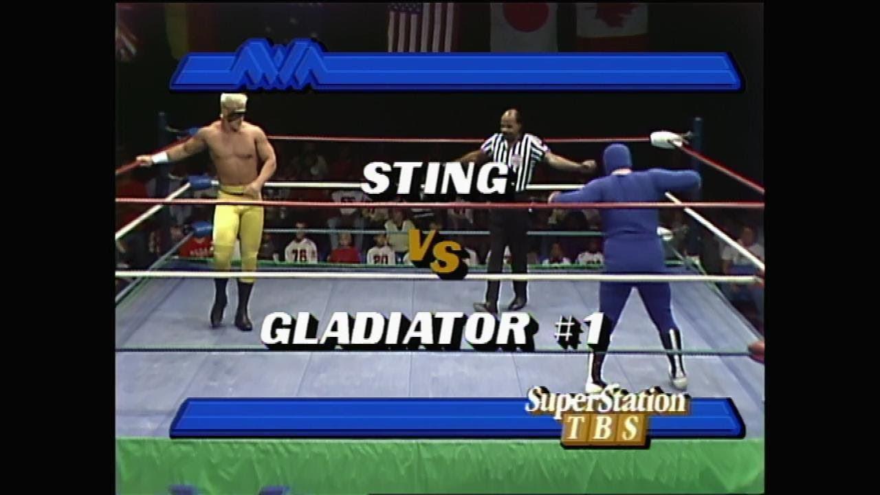 NWA Sting debut on WTBS 10/17/1987
