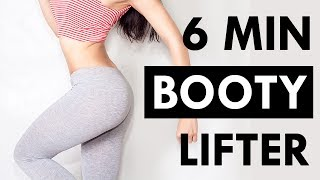 6 Minute BIGGER Butt and Thigh Workout | No Equipment Booty and Thigh Workout at Home