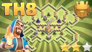 CLASH OF CLANS TOWN HALL 8(TH8) TROPHY BASE|TH8 TROPHY BASE 2017 WITH BOMB TOWER