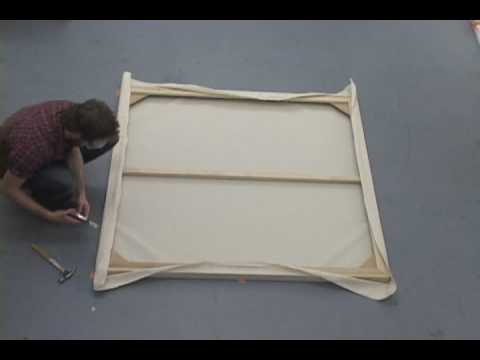 how to stretch the perfect canvas youtube. Black Bedroom Furniture Sets. Home Design Ideas