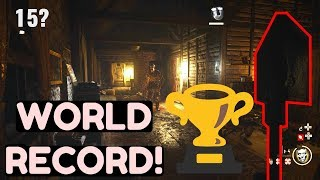 WORLD RECORD Groesten Haus, NO BUYING GUNS CHALLENGE!! Pistol and Shovel ONLY! WW2 Zombies