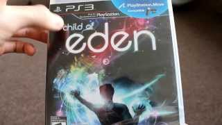Unboxing Child of Eden Sony Playstation 3 PS3 Move UBISOFT Q entertainment Tetsuya Mizuguchi