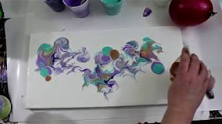 (217) Balloon Dip Technique with Acrylic Pour!