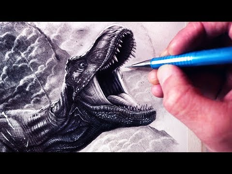 Lets Draw JURASSIC WORLD: FALLEN KINGDOM - T-REX - FAN ART FRIDAY