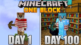 I Spent 100 Days in Minecraft ONE BLOCK...