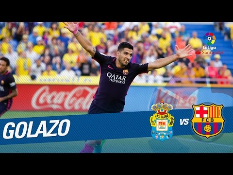 Golazo de Luis Suárez (0-2) UD Las Palmas vs FC Barcelona