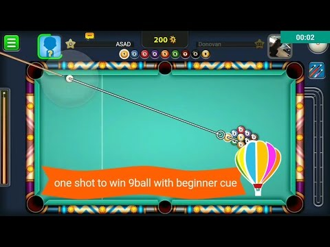 one shot to win 9ball with BEGINNER CUE