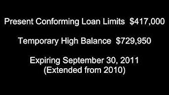 Conforming High Balance Limits Expiring September 2011