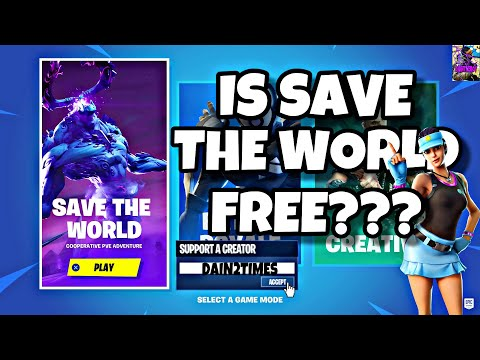 IS FORTNITE SAVE THE WORLD FREE??? THE TRUTH !!!