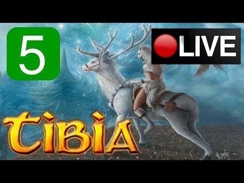 Live stream - Tibia Gameplay - Refugia World Server - My Noob Journey #5 - Level 14 to 15