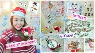 Holiday Diy Room, Treats/drink & Gift Ideas! - Clairelim