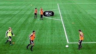 how to play like spain   fast combinations   part one   soccer passing drill