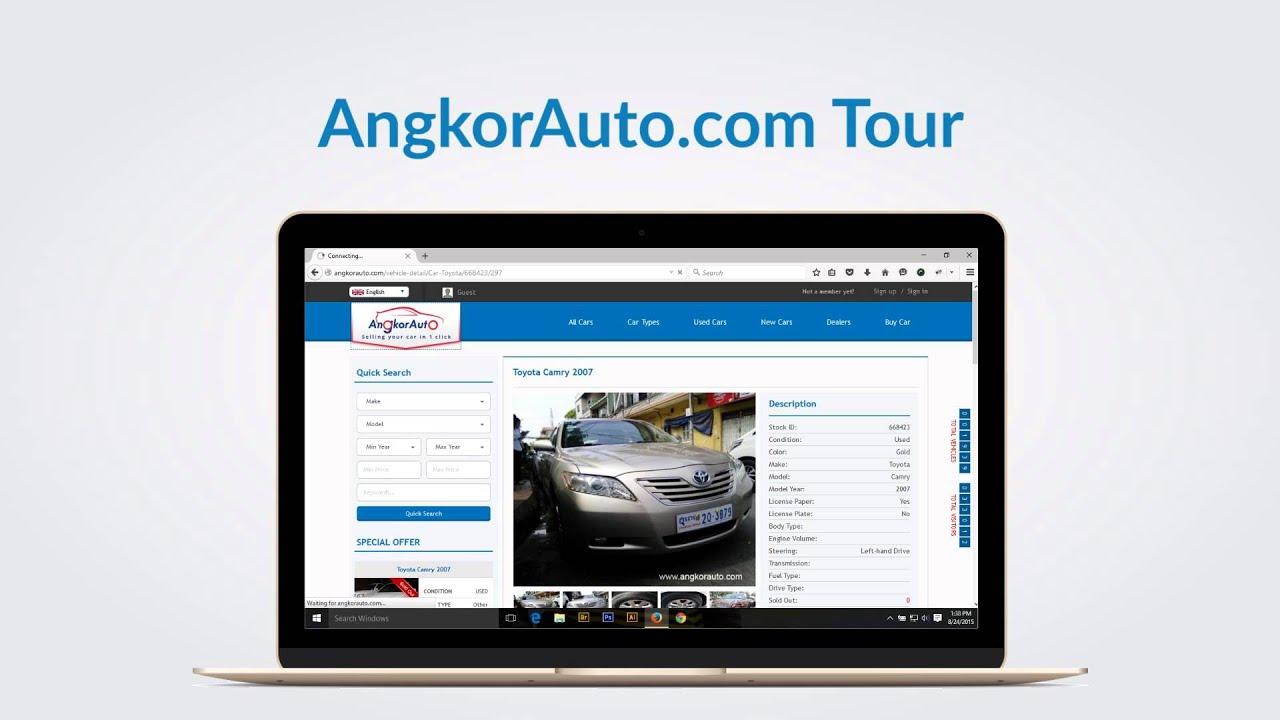 Cambodia used cars online marketing [angkorauto.com] - YouTube