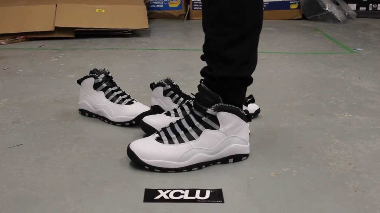 ... discount air jordan x retro steel on feet video at exclucity youtube  161f1 80a04 c555daea3