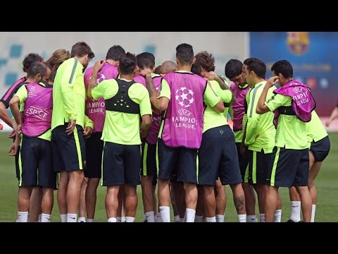 FC Barcelona training session during Open Media Day for Champions League Final
