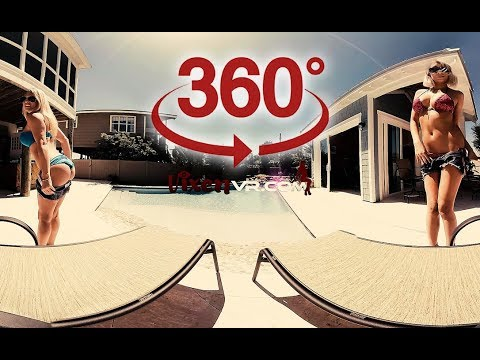 360 video VR Girl - Jacqueline with Natasha in Pool ( Video for Oculus Go )
