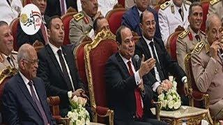 الرئيس السيسي يوجه الشكر للفنان حسين الجسمي خلال الحفل الفني بمناسبة الذكرى الـ45 لنصر أكتوبر المجيد