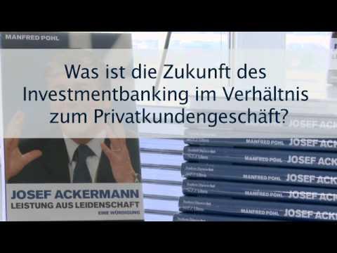 Josef Ackermann: Hilmar Kopper zu Ackermanns Leistung und Investmentbanking