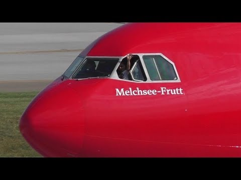 Friendly Pilot! Edelweiss Air A340-313 [HB-JMG] Taxi and Takeoff from Calgary Airport ᴴᴰ