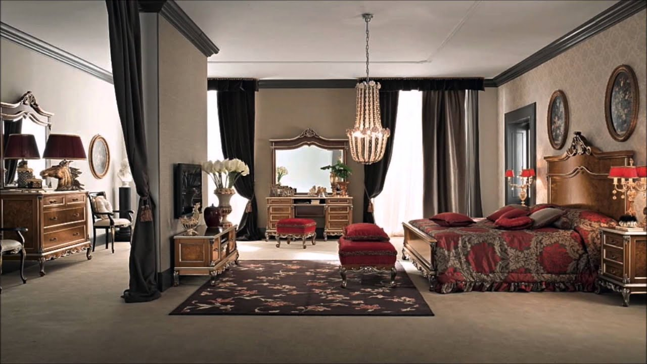 Classic bedroom luxury furniture interior design & home decor - YouTube