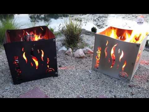 FIAP premiumdesign FireCube Feuerstelle für den Garten- und Terrassenbereich