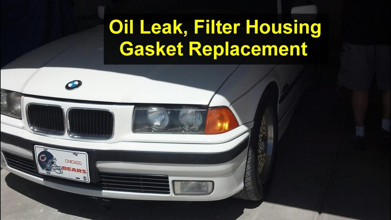 Oil Filter Housing Gasket >> How to replace the oil filter housing gasket on BMW 318i 4 cylinder, e36 - VOTD - YouTube
