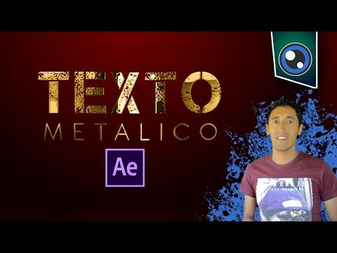 Crear texto metálico en After Effects / Tutorial