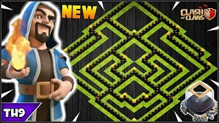 NEW TOWN HALL 9 TROPHY/FARMING BASE 2018! TH9 HYBRID FARM BASE WITH REPLAYS!! - CLASH OF CLANS(COC)