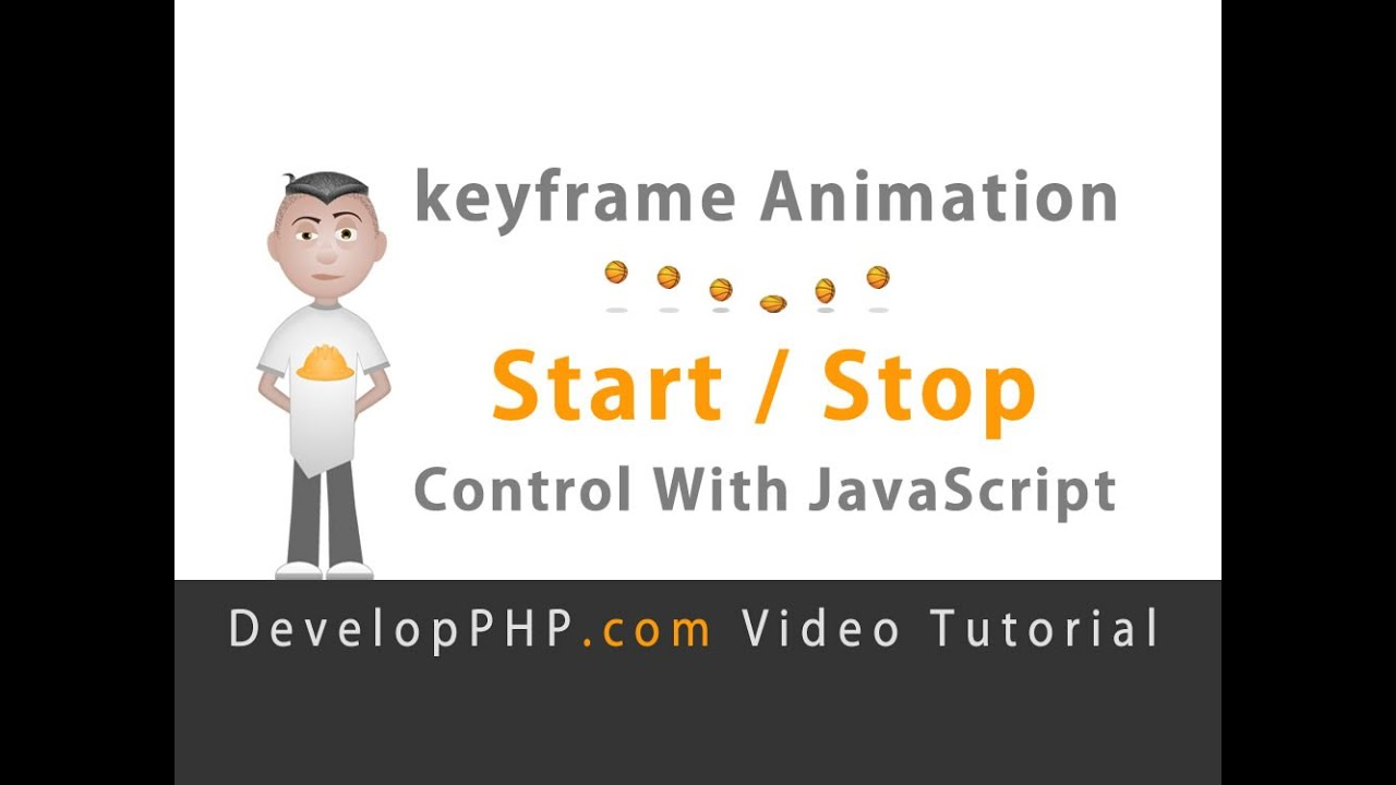 Start Stop CSS Sprite keyframes animation with JavaScript