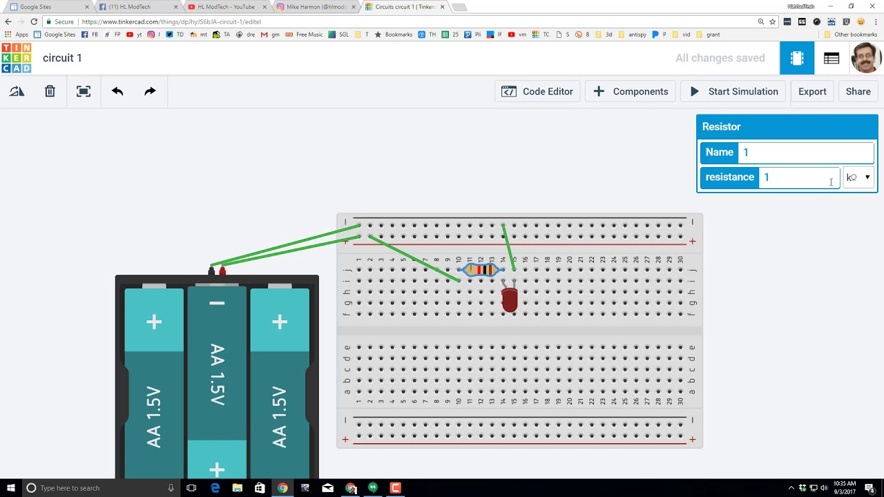 how to build circuits on tinkercad