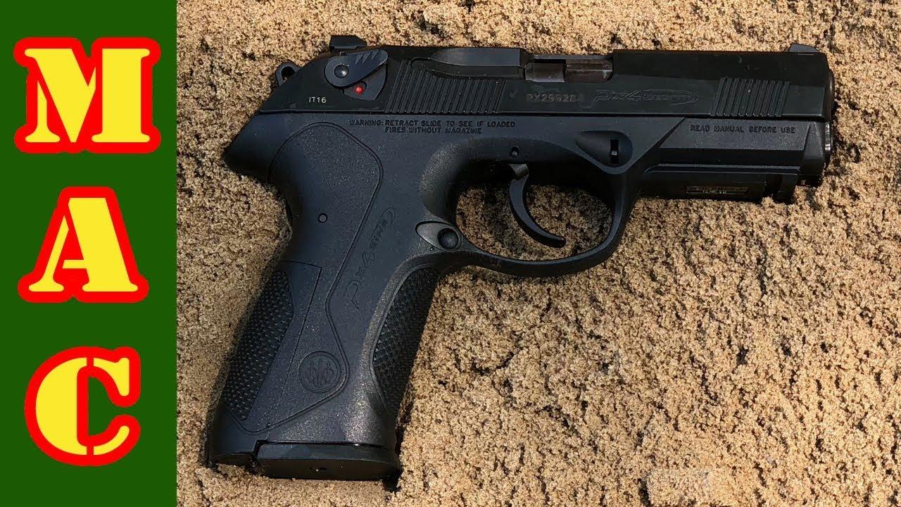 Beretta PX4 Storm 9mm meets the Gauntlet - YouTube