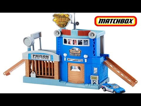 Matchbox Police Station Action Adventure Playset With W
