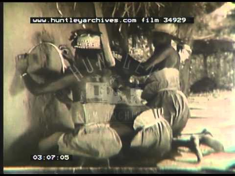 Mangbetu Tribe In Congo, 1950 - Film 34929